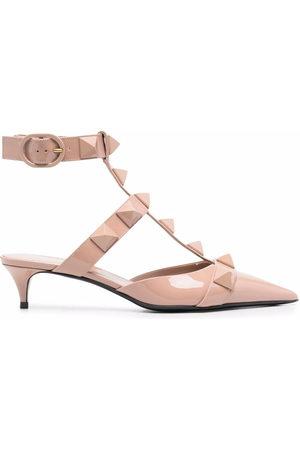VALENTINO GARAVANI Damen Pumps - Roman Stud low-heeled pumps - Nude