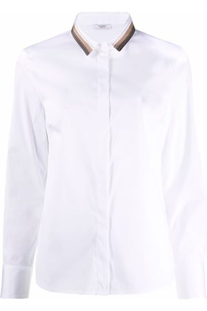 PESERICO SIGN Damen Shirts - Contrast collar poplin shirt