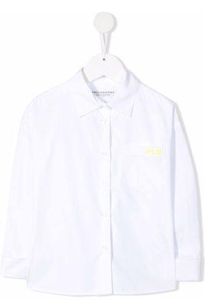 PHILOSOPHY DI LORENZO SERAFINI Mädchen Shirts - Embroidered-logo cotton shirt