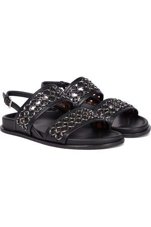Alaïa Verzierte Sandalen aus Leder