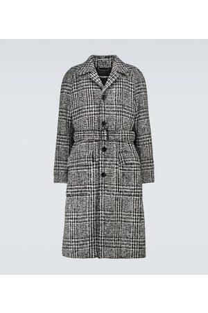 Dolce & Gabbana Mäntel - Karierter Mantel aus einem Wollgemisch