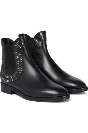 Alaïa Ankle Boots aus Leder