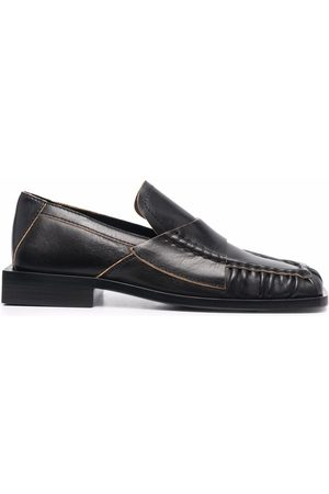Acne Studios Damen Halbschuhe - Square-toe block-heel loafers