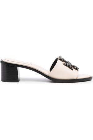 Tory Burch Damen Sandalen - Ines embellished 55mm slide sandals