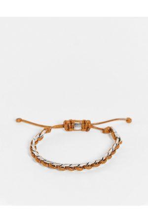 Icon Brand Herren Armbänder - – Armband mit Kordel- und Kettendesign in