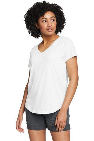 Eddie Bauer Boundless T-Shirt mit V-Ausschnitt Damen Gr. XS