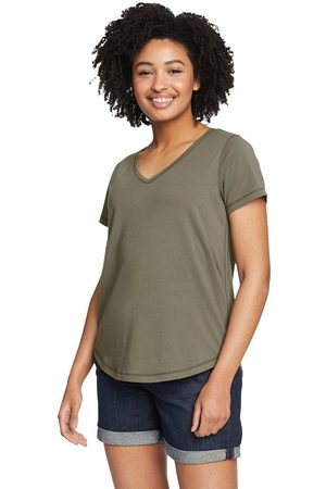 Eddie Bauer Damen Shirts - Boundless T-Shirt mit V-Ausschnitt Damen Gr. XS