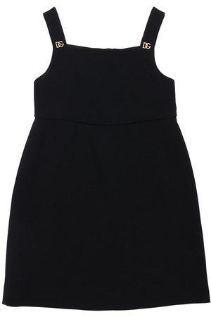 Dolce & Gabbana Mädchen Kleider - Kleid Aus Viskosemischung Mit Logo