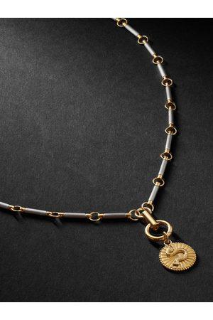 Foundrae Herren Halsketten - Wholeness 18-Karat Gold, Onyx and Diamond Necklace