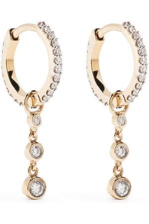 Maria Black Damen Ohrringe - 18kt Gelbgoldcreolen mit Diamanten