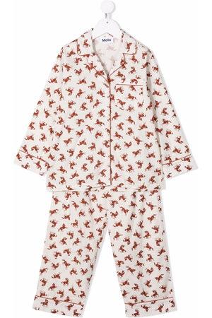 Molo Pyjama mit Pferde-Print - Nude