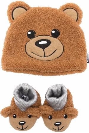 Moschino Set aus Teddy-Mütze und Hausschuhen