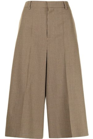 Céline 2019 pre-owned check-print wool culottes
