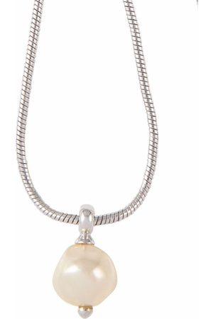 Dior Pre-owned baroque faux-pearl snake-chain necklace