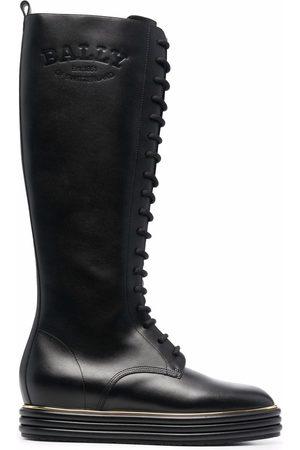 Bally Damen Schnürstiefel - Lace-up knee-high boots