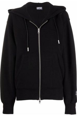 Diesel Drawstring zip-up hoodie