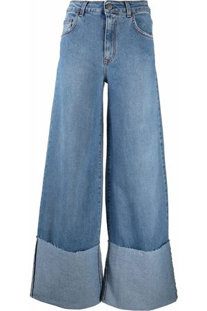 FEDERICA TOSI Damen Cropped - Turn-up wide leg jeans