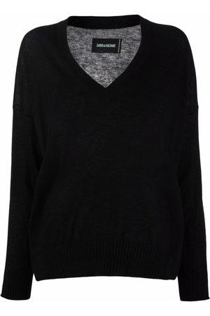 Zadig & Voltaire Friday V-neck cashmere jumper - NOIR