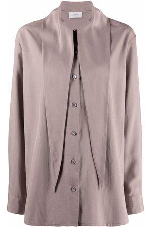 LEMAIRE Tie neck button-front shirt