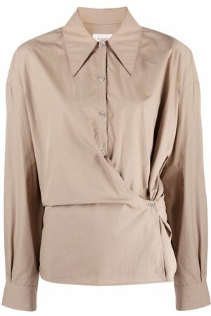 LEMAIRE Wrap-front long-sleeve shirt - Nude