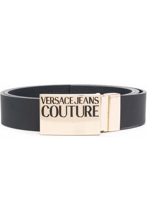 VERSACE Herren Gürtel - Logo plaque leather belt