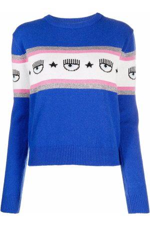 Chiara Ferragni Logo-print knitted jumper