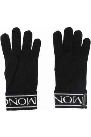 Moncler Handschuhe mit Logo-Stickerei