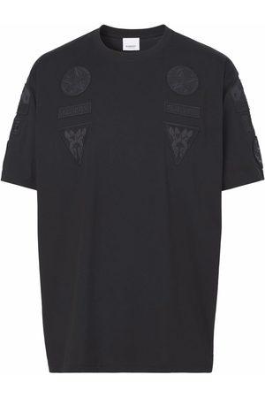 Burberry Herren Shirts - Badge-appliqué oversized T-shirt