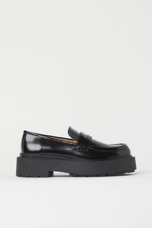 H&M Damen Halbschuhe - Chunky Loafer aus Leder