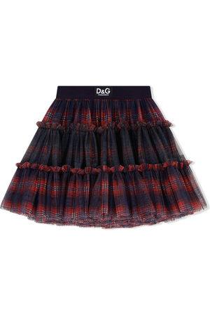 Dolce & Gabbana Kids Mädchen Bedruckte Röcke - Karierter Tüllrock