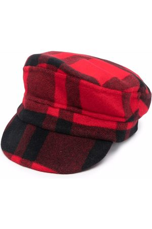 P.a.r.o.s.h. Checked baker boy hat