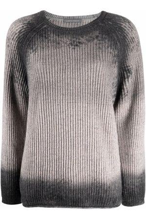 Alberta Ferretti Damen Strickpullover - Faded-effect knit jumper