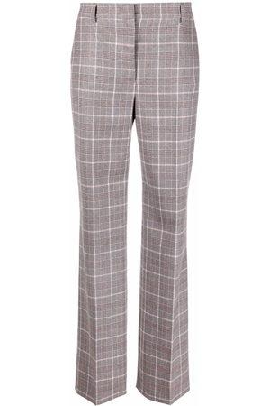 Alberta Ferretti Damen Hosen & Jeans - Checked straight-leg trousers