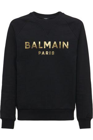 BALMAIN Sweathirt Aus Baumwolljersey Mit Logo