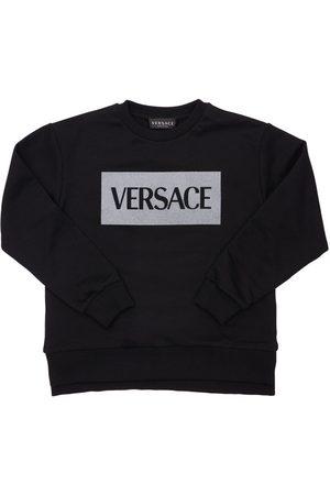 VERSACE Sweatshirt Aus Jersey Mit Logodruck
