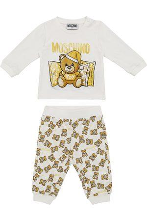 Moschino Baby Set aus T-Shirt und Jogginghose aus Baumwolle