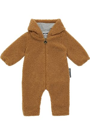 Moschino Baby Strampler aus Faux Shearling