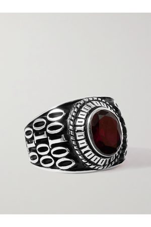 Jam Homemade College M Sterling Silver Onyx Ring