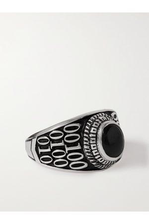 Jam Homemade Herren Ringe - College S Sterling Silver Onyx Ring