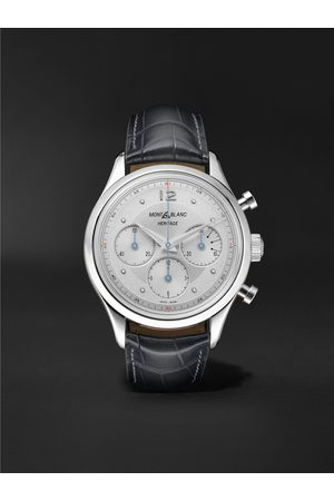 Montblanc Heritage Automatic Chronograph 41mm Stainless Steel and Alligator Watch, Ref. No. 128670