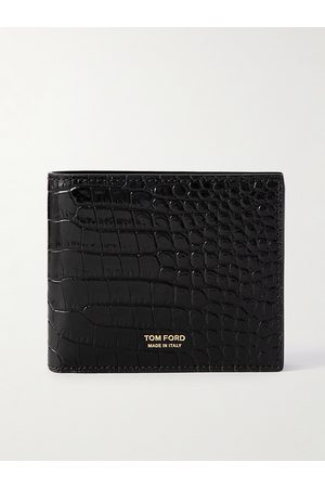 Tom Ford Croc-Effect Leather Billfold Wallet