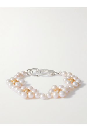 Hatton Labs Herren Armbänder - Daisy Sterling Silver and Pearl Bracelet