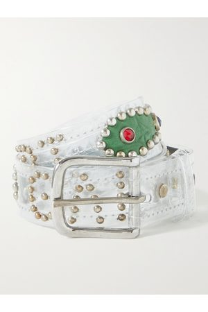 GALLERY DEPT. Simon Embellished PVC and Leather Belt