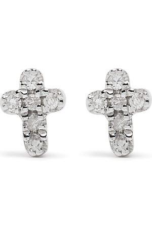 DJULA 18kt Cross Weißgoldohrringe mit Diamanten
