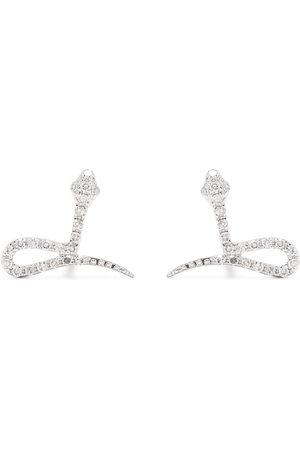 DJULA 18kt Snake Weißgoldohrringe mit Diamanten