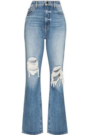 Khaite Danielle high-waisted distressed jeans
