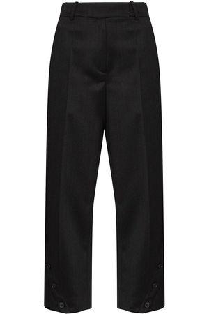 Simone Rocha Button-embellished straight-leg trousers