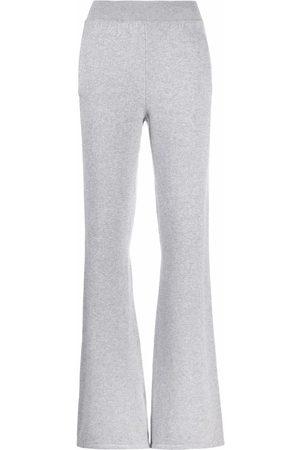 Alberta Ferretti Damen Jogginghosen - Flared cashmere track pants