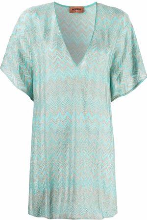 Missoni Zigzag-woven beach dress