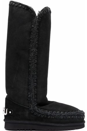 Mou Whipstitched sheepskin boots